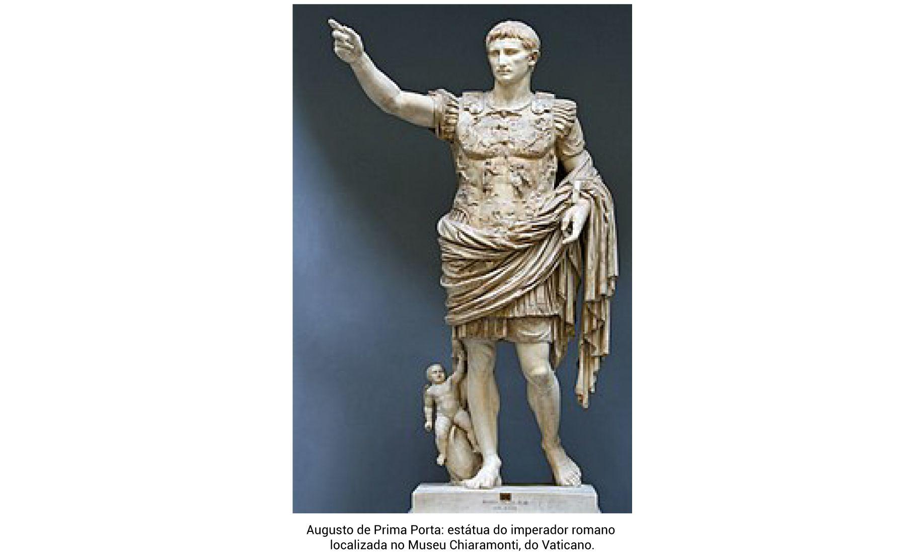 Augusto de Prima Porta estátua do imperador romano localizada no Museu Chiaramonti, do Vaticano.